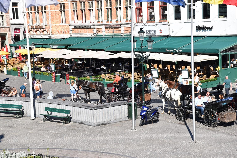 The market square in Bruges