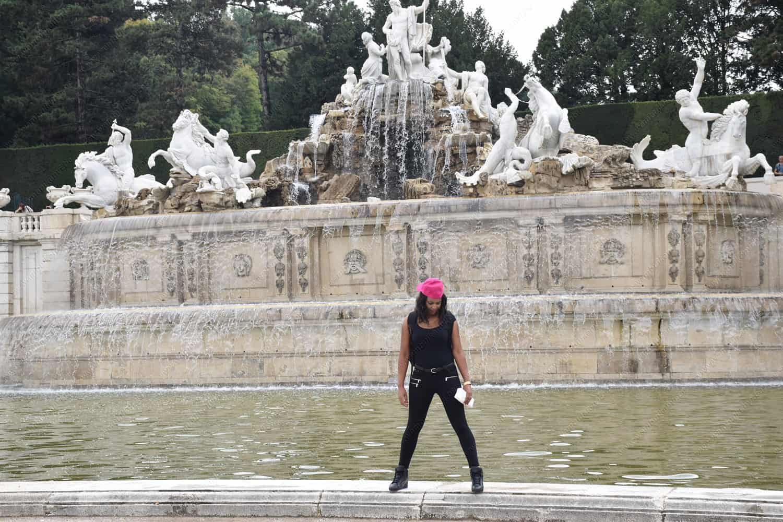 The Neptune Fountain Vienna Austria