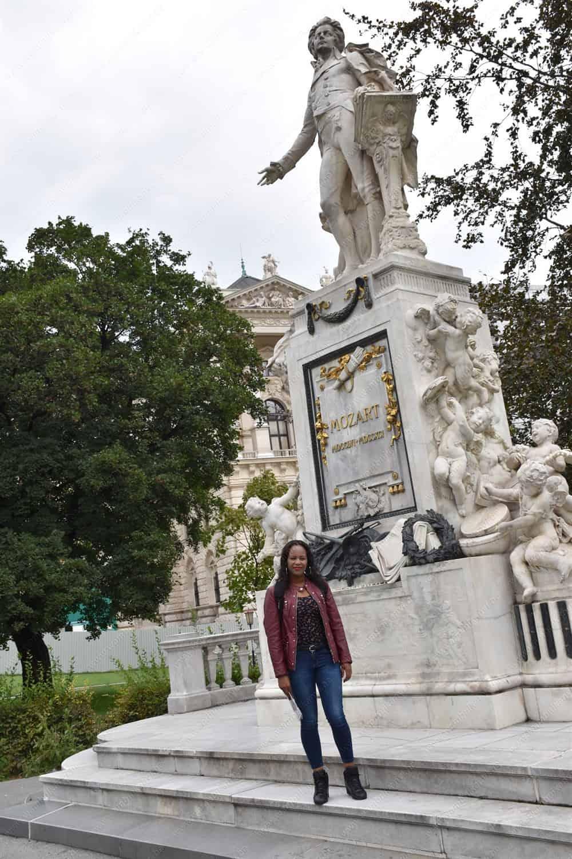 The Mozart Statue in Viennna