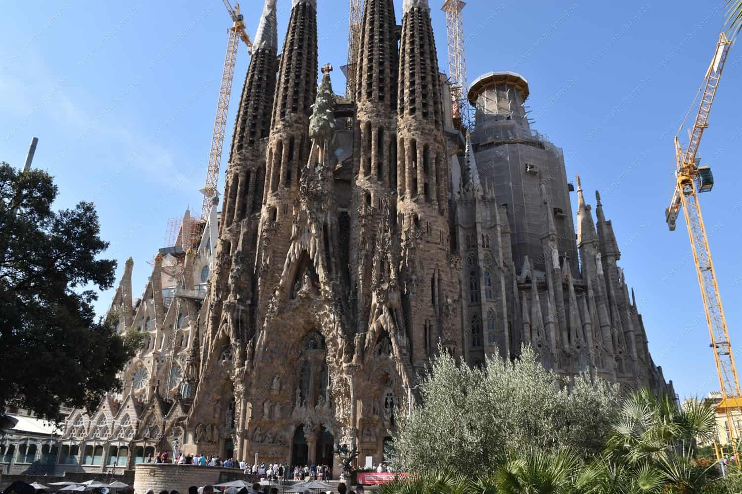 Our visit  to the famous Sagrada Familia in Barcelona