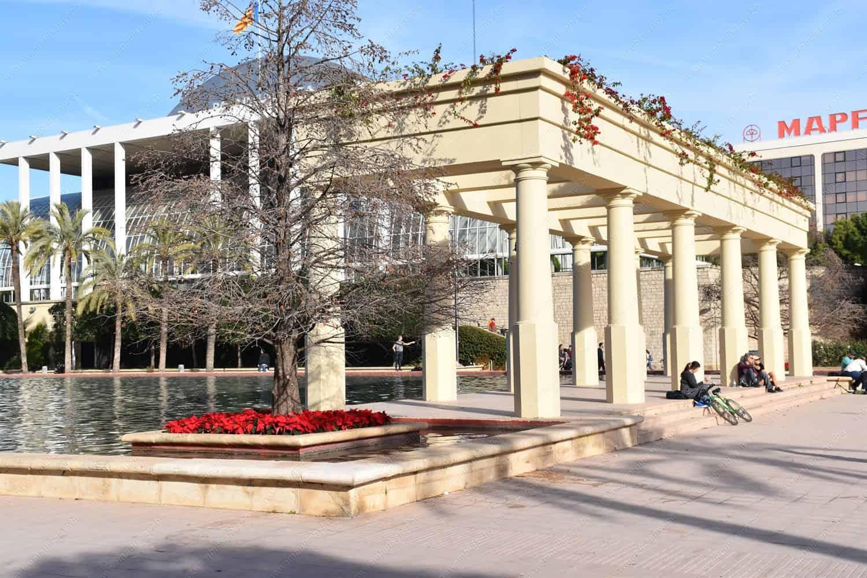 Palau de la Musica Valencia in Turia Gardens Valencia
