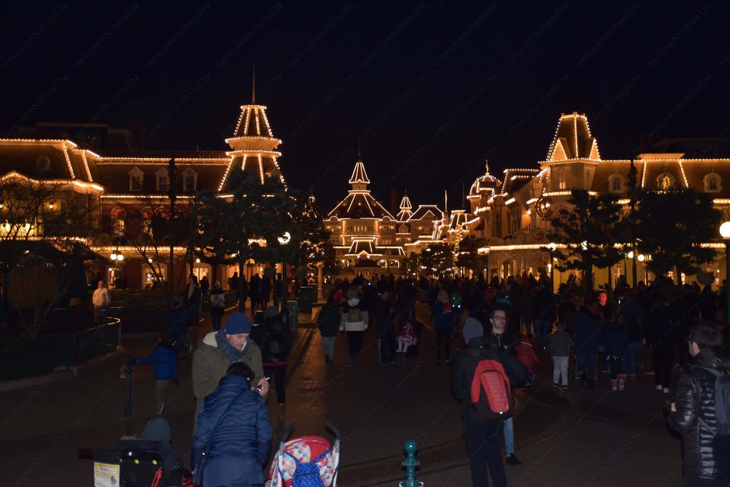Disneyland Paris at Night