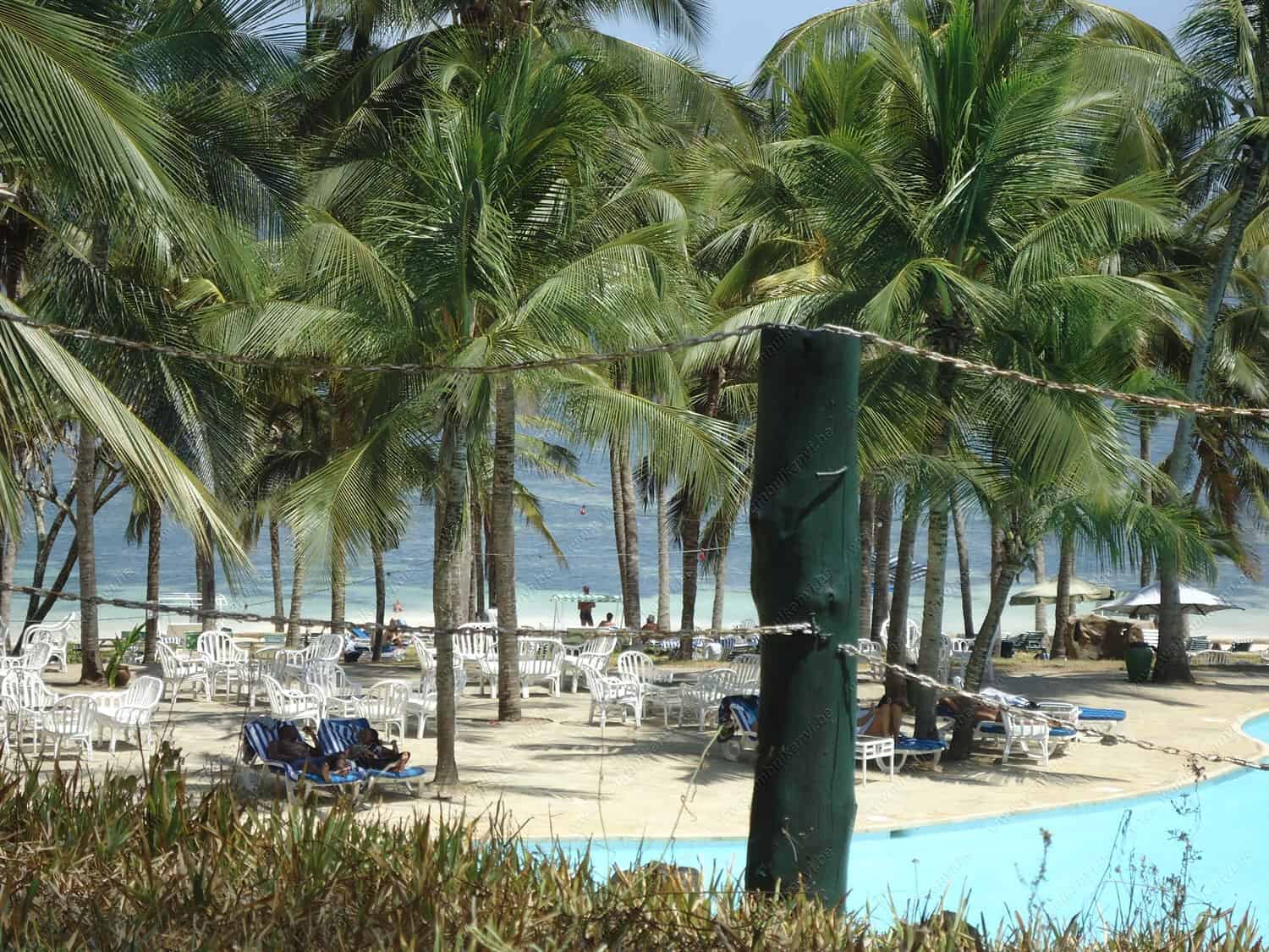 Diani; The White Sand Beach in Kenya