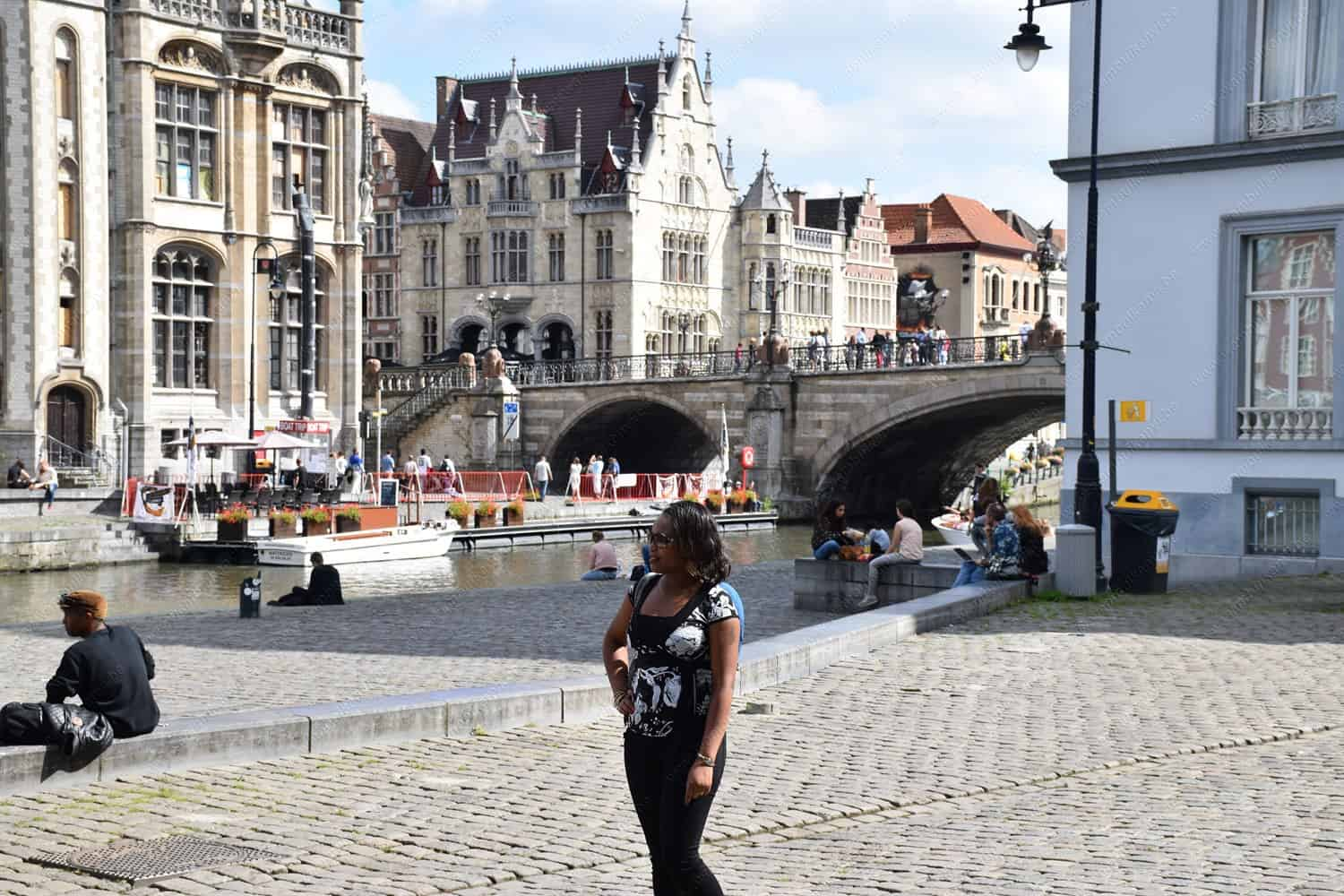St. Michael Bridge in Ghent