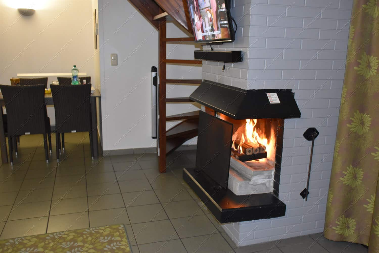 Fire place at the Sunparks in Belgium