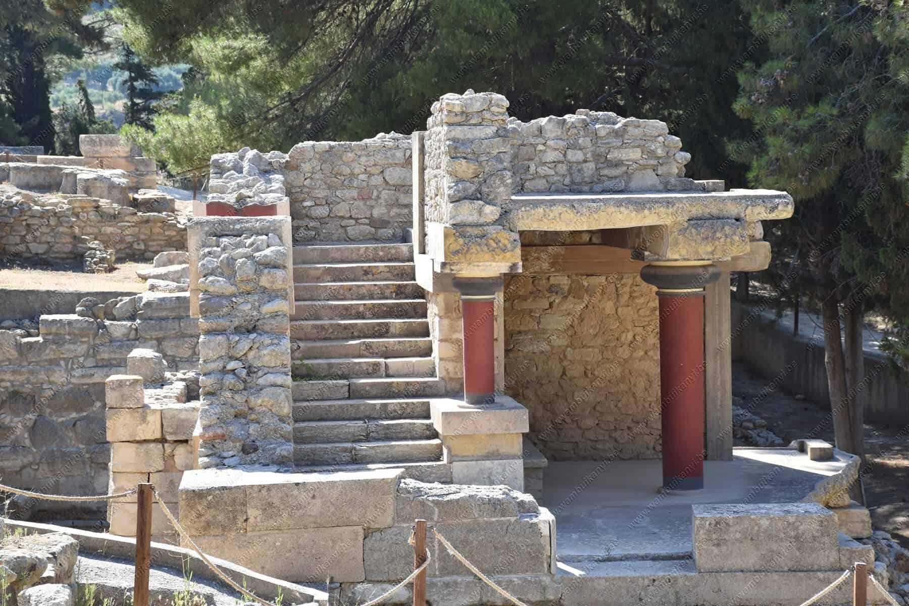 Ancient Ruins in Crete Island