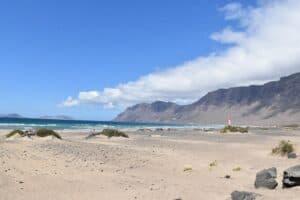 Playa de Famara (Famara Beach) in Lanzarote Island
